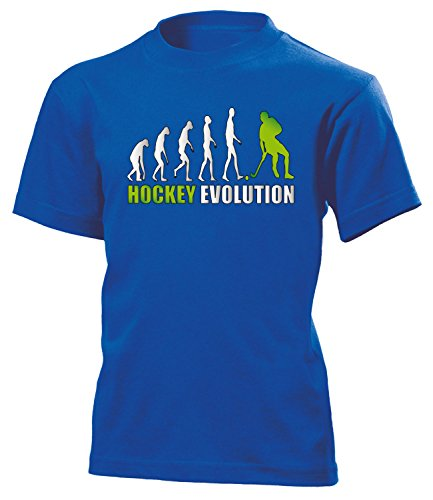 love-all-my-shirts Hockey Evolution 618 Kinder T-Shirt (K-B-Weiss-Grün) Gr.152