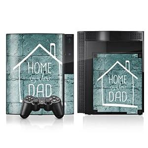DeinDesign Sony Playstation 4 Controller Folie Skin Sticker aus Vinyl-Folie Aufkleber Vatertag Dad Papa