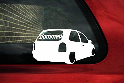 Adesivo tipo decalcomania con sagoma auto per Vauxhall/Opel Corsa B GSi