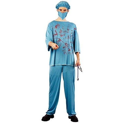 SpringPear® Arztkostüm Halloween Kostüm Verkleidung Arzt Doktor Chirurg OP-Kittel Horrorparty Karneval Fasching