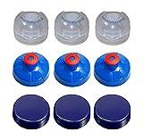 9er Set Deckel für Acala Tritanflaschen gemischt