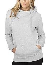 Urban Classics Damen Sweatshirt Bekleidung Ladies Melange Hoody