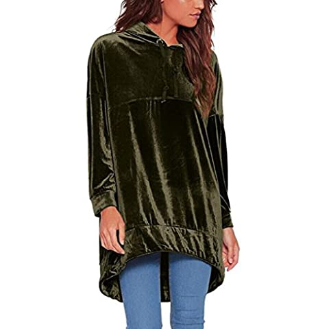 Reaso Mode Femmes Automne-hiver Hoodie Sweat-shirt Velours Jumper Manche longue
