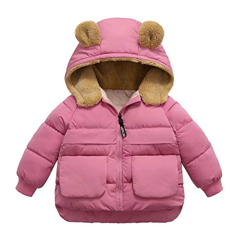 DIASTR Mädchen Wintermantel Weicher Dufflecoat Solid Color Langarm Cape Kinder Woolen Jacke Warme Sweatjacke Fleecejacke Outdoorjacket