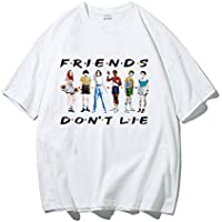 APHT Unisex Stranger Things Serie de TV Netflix Letter Print Slim Tops Casual tee Cuello Redondo Top Manga Corta Hip Hop Camiseta