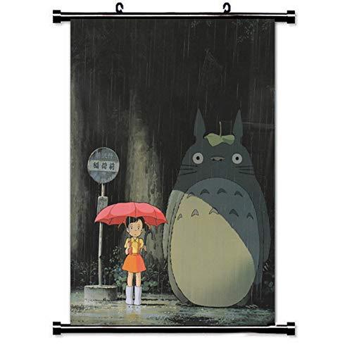 Muster Totoro Kostüm - SGOT Anime Poster, My Neighbor Totoro Poster, Wall Malerei Patinting, Bar Cafe Poster, Decorative Painting Poster Wandgemälde(40 * 60cm)
