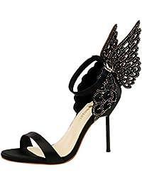 Sexy Ladies Thin Sandali Con Tacco Alto Ali Design Moda Scarpe Da Donna d7968abcb43