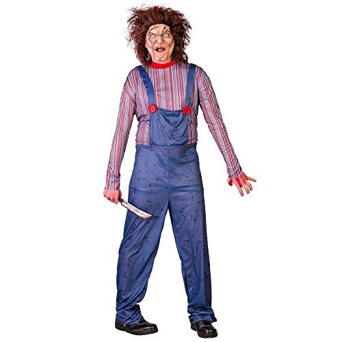 Partyklar Chuck Killer Puppe Kostüm Erwachsene (Chucky Puppe Perücke)
