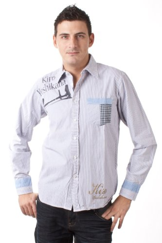 Kiro Yoshikana langarm Hemd Schütze gestreift 4114 1850, Größe:M