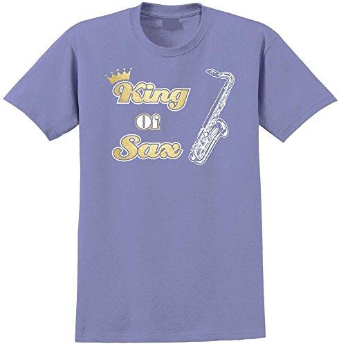 Saxophone Sax Tenor King Of Sax - Violett T Shirt Größe 86cm 34in Lge 12-13 Jahr MusicaliTee (Für Saxophon Kinder Yamaha)