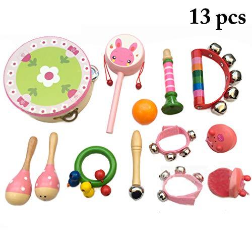 Joyibay 13 STÜCKE Musikinstrument Set Frühe Pädagogische Musik Spielzeug Kinder Instrument Spielzeug