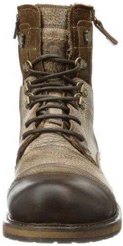 Yellow Cab Soldier Herren Biker Boots Braun (Tan)