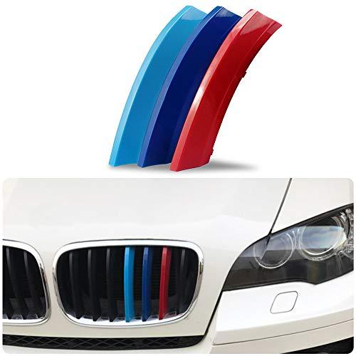 Pour 08-11 X5 X6 E71 E72 (7Grilles) 3 Colors M Styling Front Grille Trim Strips Cover Stickers 3 Pièces