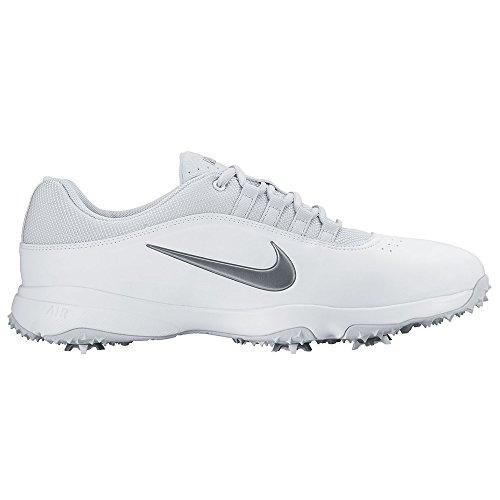 Nike Herren Air Rival 4 Golfschuhe, Weiß/Grau/Silberfarben (White/MTLC Cool Grey-Pr Pltnm), 42 EU