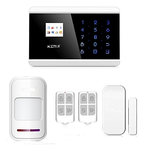 ABTO Wireless GSM Landline Home Security Alarm System Detector with Door and Window Alarms for House safe