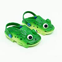 ZZJCY Slippers Frog Shape Rubber Slip Wear-Resistant Lightweight Creative Funny Children