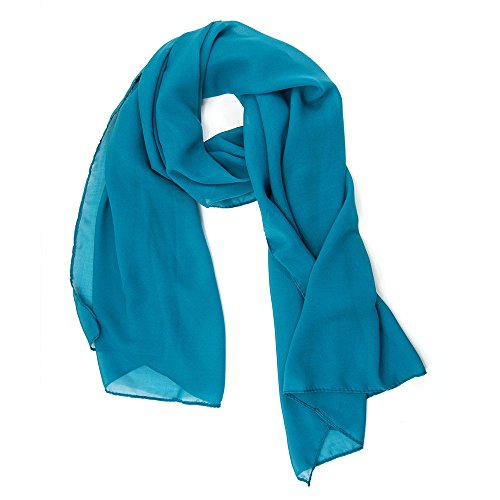 ManuMar Schal für Damen | feines Hals-Tuch in blau Unisex-Farben Uni-farben als perfektes Sommer-Accessoire | Das ideale Geschenk für Frauen
