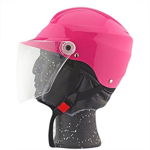 Lidauto Motorrad Half Helmets Rider Biker Einfache Einzigartige Beliebte Bunte,Pink