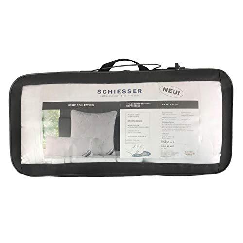 Schiesser Taschenfederkern-Kopfkissen 40 x 80 cm/Allergiker geeignet, Größe:40 x 80 cm