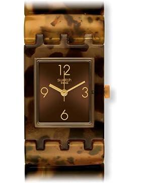 Swatch Damen Armbanduhr MANOURIA L Analog Quarz Kunststoff SUBC101A
