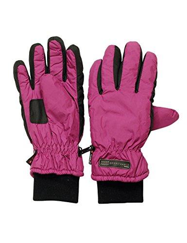 maximo Mädchen Handschuhe 28100 - 813000, Gr. 5, Mehrfarbig (brombeere/schwarz 3246)