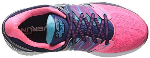 Saucony Hurricane Iso 2 W' , Scarpe da Corsa Donna Blue/Pink