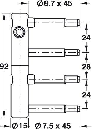 GedoTec® 3 DIM porta Band 2 pezzi Einbohren band Cerniera regolabile ...
