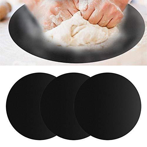 Morningtime 3 stücke Backmatte Grill Runde Wiederverwendbare Kuchen Matte und Hitzebeständige Blätter Antihaft für Gas, Kohle oder Elektrogrill (Durchmesser: 40 cm) -