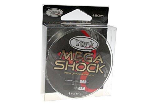 Angel cuerda York Mega Shock Objetivo mújol 150m 0,14mm de 0,40mm Bobina monofile cuerda Top Nuevo & embalaje original (0,02€/m)