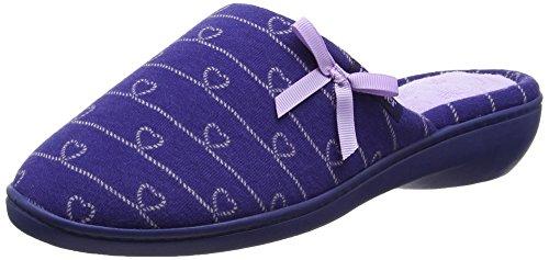 isotonerisotoner-heart-heeled-mule-slipper-pantofole-donna-blu-blue-navy-lilac-365