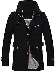 Menschwear El collar del soporte del algodón de la chaqueta de la chaqueta de los hombres Outwear