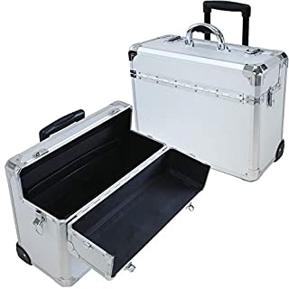 T.Z. Case International T.z Apl-410t Sd Wheeled Pilot Case, 18-1/4 X 8 X 13-3/4 in, Silver