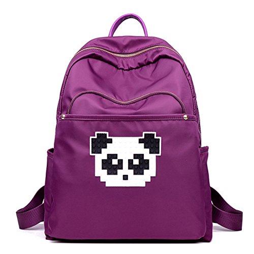 Young & Ming - Bunte große Unisex Frauen wasserdicht Nylon Rucksack Backpack Handtasche niedlichen Panda Dekoration für Arbeit / Freizeit / Schule