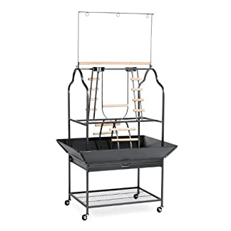 Prevue Hendryx 3180 Pet Products Parrot Playstand, Black Hammertone 7