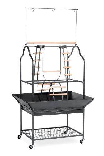 Prevue Hendryx 3180 Pet Products Parrot Playstand, Black Hammertone 1