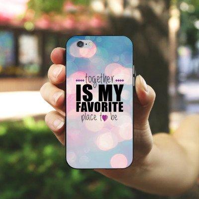 Apple iPhone X Silikon Hülle Case Schutzhülle Liebe Freundschaft Statement Silikon Case schwarz / weiß