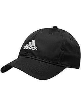 adidas - Gorra para adolescente, pico flexible, correa de cierre con velcro, negro, hombres