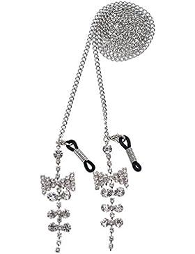 Kesheng Cadena de Gafas Correa de Gafas Longitud 77 cm con Colgante de Diamantes de Imitación para Mujeres