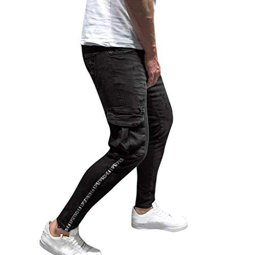 Pantalones Rockeros Hombre Pantalones Hombre Chinos Slim Vaqueros...