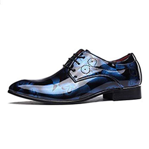 Herren Business Oxford Kleid Schuhe Blumenmuster Herren Kleid Schuhe Leder Print Bräutigam Hochzeits Schuhe - Steve Madden Oxford