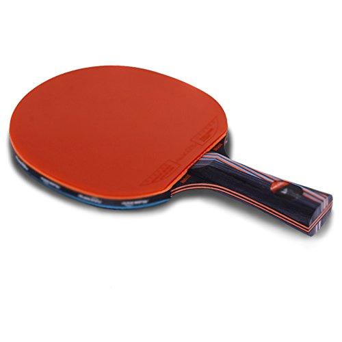 xianw Tischtennisschl?ger Set Bundle | Beinhaltet 2 pr?mie (5-Sterne-) Ping Pong paddel pro | 3 tischtennisb?lle,1 Carry-Reise-etui-A -