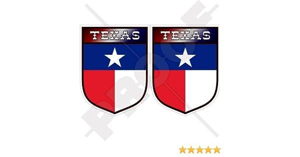 Stickers x2 7,6/cm Am/érique 75/mm Bumper en vinyle autocollants Texas State Texas USA