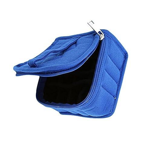 HENGSONG 1x Aromathérapie Diffuseur de Stockage Huile Essentielle Carry Case Bag Box Organizer Trousse de Maquillage (Bleu)