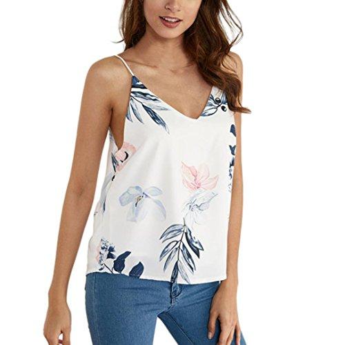 Jaminy Damen Tank Tops Sommer Ärmellos Bluse Shirt Ärmellose Tank Top Loose Sommer Blusen Shirt Basic Shirt Tunika Obertail S-XL (M, ()
