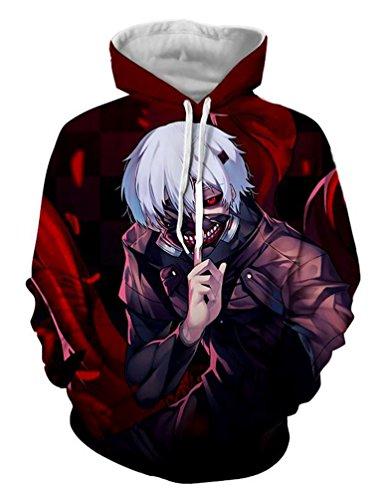 Brinny Anime Hoodie Pullover Kapuze Kapuzenpullover Pulli Kostuem Sweaters Hoodie Sweatshirt Kapuzenpulli Sweatshirt Fitness Sport Gym BRHD06