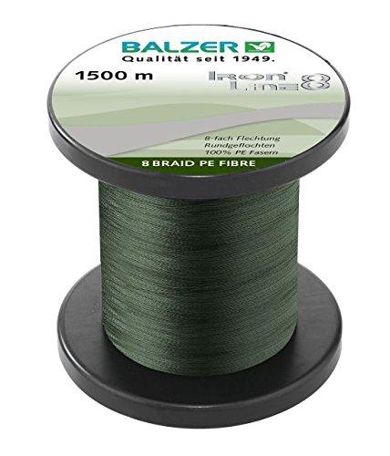 Balzer Iron Line 8 Schnur grün 0.10mm 1500m