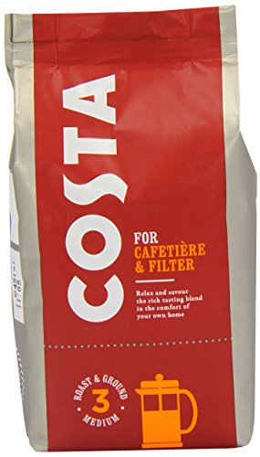 Costa Roast and Ground Coffee 200 g (Pack of 12) 41gYrJ00L5L