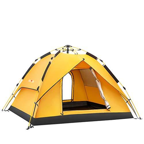 Tunnelzelt für/Wurfzelt Automatische Geschwindigkeit Open Home Outdoor-Zelt 3-4 Personen Camping Faltzelt Double Rainproof Camping Outdoor-Zelt Deluxe Familienzelt/Zelte ( Color : A , Größe : L )