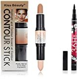 #9: Kiss Beauty highlighter and contour with sketch eyeliner  (Set of 2)