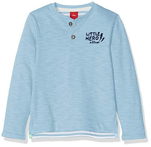 s.Oliver Baby-Jungen 65.908.31.8687 Langarmshirt, Blau (Blue 5312), (Herstellergröße: 80)